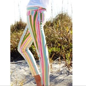 Lilly Pulitzer Worth Skinny Jeans Spicy Stripe